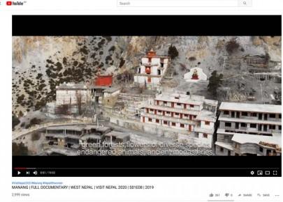 नेपाल भ्रमण वर्ष २०२० गर्ने मनाङको भिडियो युट्युबबाट सार्वजनिक