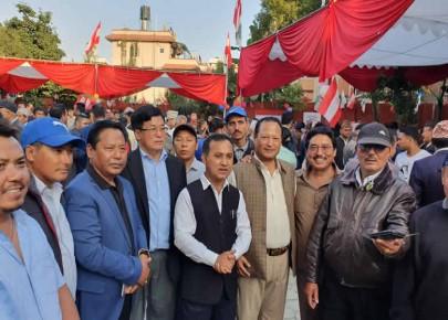 नेपाली काँग्रेसको केन्द्रीय कार्यलयमा जलपान कार्यक्रमा सम्पन्न