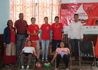 घ्याल्सुम्दो सेवा केन्द्र (मनाङ)द्वारा रक्तदान कार्यक्रम सम्पन्न