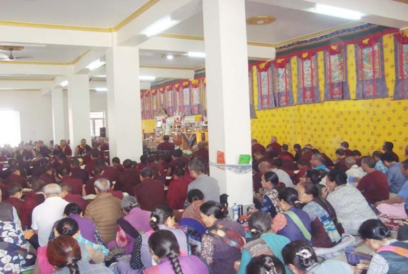 मनाङ सेवा समाज गुम्बामा विश्वशान्ति पूजा